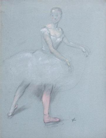 danseuse en tutu blanc by jean louis forain