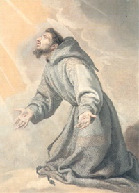 saint francis receiving the stigmata by bartolome (carducho) carducci