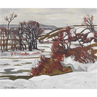 melting snow by randolph stanley hewton