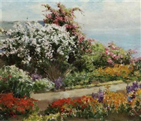 garden in bloom by william adam