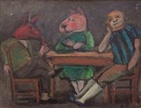 mascaras en la mesa by luis alberto solari