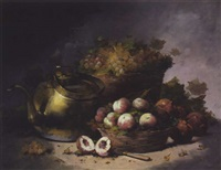 nature morte aux paniers de fruits by aubert