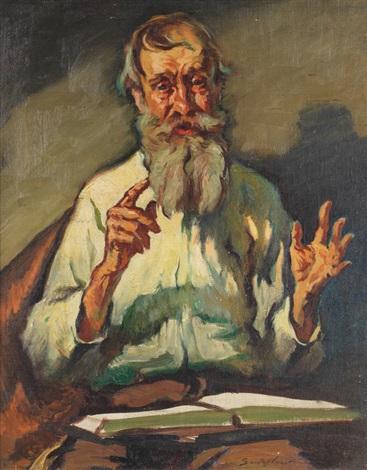 portrait of an elderly scholar by sander vago