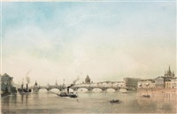 panoramic view of st. petersburg by josef iosefovich charlemagne