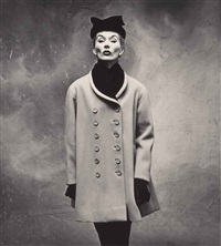balenciaga little great coat (lisa fonssagrives-penn), paris by irving penn