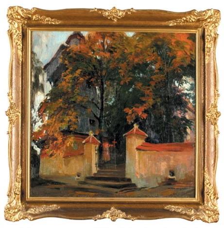 dzwonnica w jesiennym pejzażu by henryk uziemblo