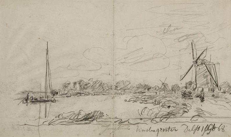 delft oct 68 étude de voilier study rectoverso by johan barthold jongkind