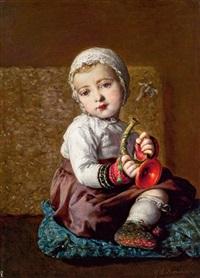 lexi mit trompete by johann baptist reiter