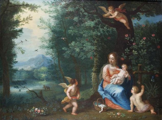 engel bei maria und dem kinde by anonymous dutch 17