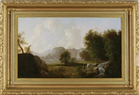 two fisherman at a stream by thomas doughty