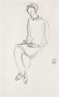 阅读的女人 (reading woman) by sanyu