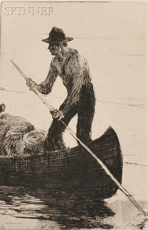 riverman by frank weston benson
