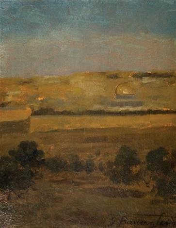 jerusalem landscape by gustav bauernfeind