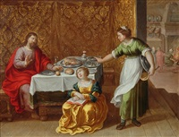 christ in the house of mary and martha by vincent adriaensz