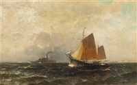 passing steamer by george herbert mccord