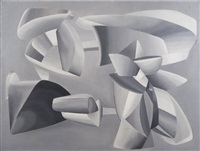 grey scale composition by john ferren