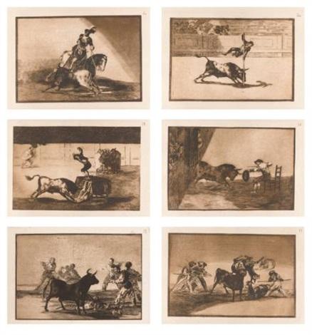 la tauromaquia (portfolio of 40) by francisco de goya