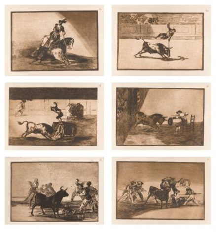 la tauromaquia portfolio of 40 by francisco de goya