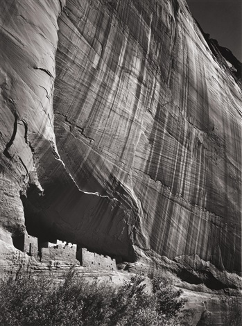 white house ruin cañon de chelley national monument arizona by ansel adams
