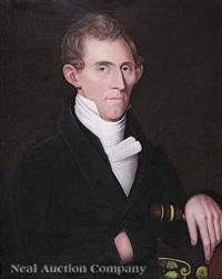 portrait of samuel deuel by ammi phillips