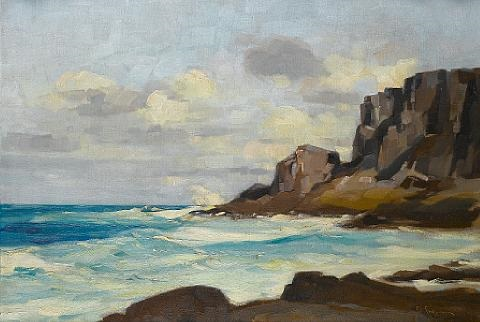 the sea near tsirigo by vasilis germenis