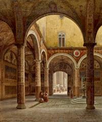 im innenhof des palazzo vecchio, florenz by julius edward w. helfft