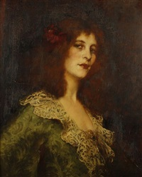 portrait de femme by rené avigdor