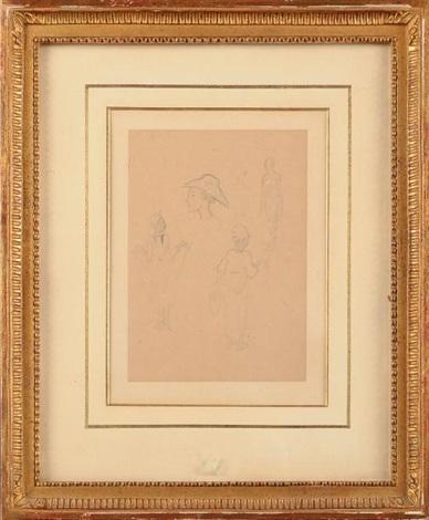 etudes de personnages période tahiti study by paul gauguin