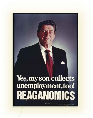 reaganomics by hans haacke