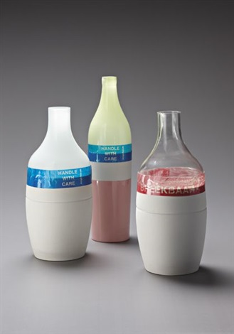 long neck and groove vases set of 3 by hella jongerius