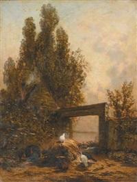 paysage aux coqs by godefroy de hagemann