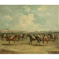 racing at ascot by raoul millais