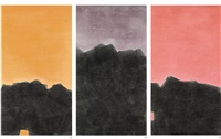 clouds above the mountain (triptych) by sang huoyao