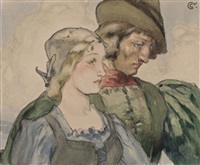 femme et homme by jean georges cornelius