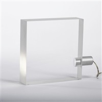 tofu table lamp by tokujin yoshioka