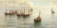 the fleet at anchor by hamilton macallum