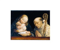 the virgin and child with saint bernard by master of the magdalen legend