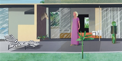 beverly hills housewife diptych by david hockney