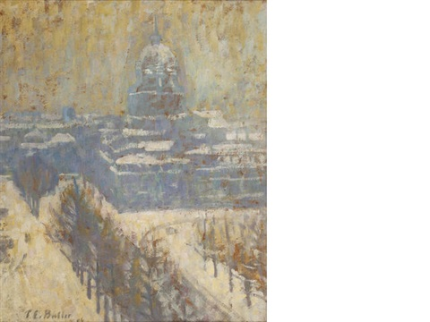view of the invalides paris by theodore earl butler