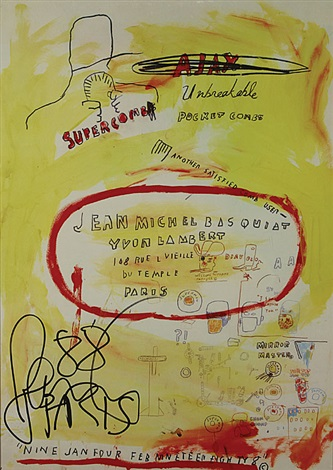 another satisfied comb user by jean michel basquiat