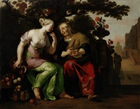vertumnus and pomona by abraham danielsz hondius