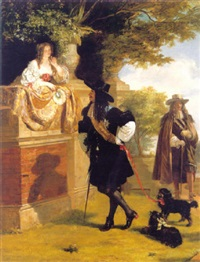 interview between charles ii and nell gwynne, as witnessed by evelyn by edward matthew ward