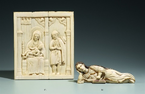 an indo portuguese ivory plaque western india or sri lanka 17th century