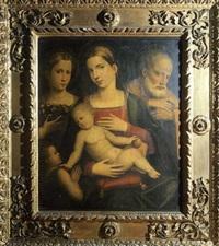 la sainte famille avec saint jean-baptiste et une sainte tenant un panier de fleurs (collab. w/giulio francia) by giacomo francia