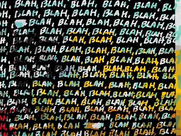 Blah Blah Blah Background Noise by Mel Bochner on artnet