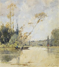 barque sur un étang by stanislas lépine
