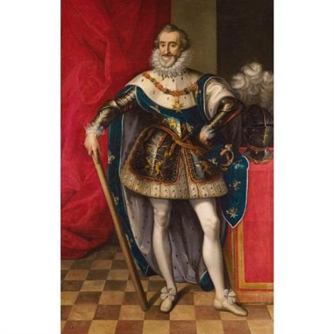 portrait en pied dhenri iv en armure et portant le collier de lordre du saint esprit by frans pourbus unattributable