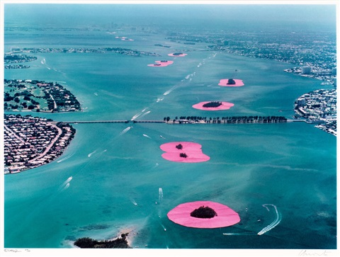 surrounded islands biscayne bay greater miami florida 1980 83 set of 4 by christo and jeanne claude