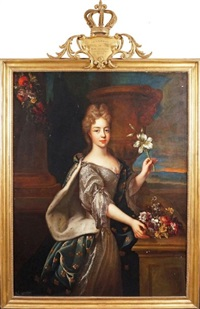 portrait de maire-adelaïde de savoie, duchesse de bourgogne by pierre gobert