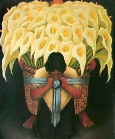vendedora de flores by diego rivera